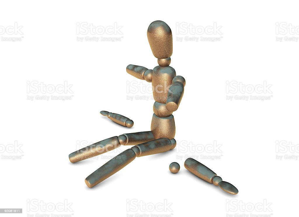 Physically impaired concept royalty-free stock photo