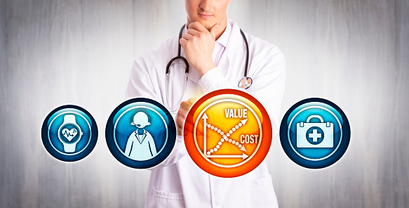 istock Physician Analyzing Value Vs Cost Of Telemedicine 1171147649