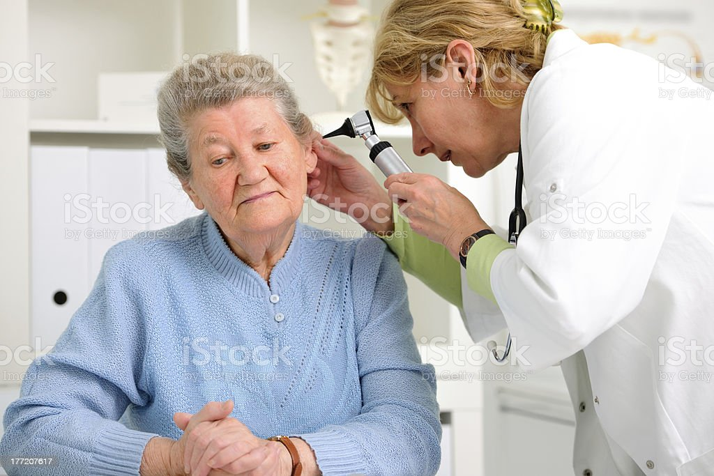 ENT physician royalty-free stock photo