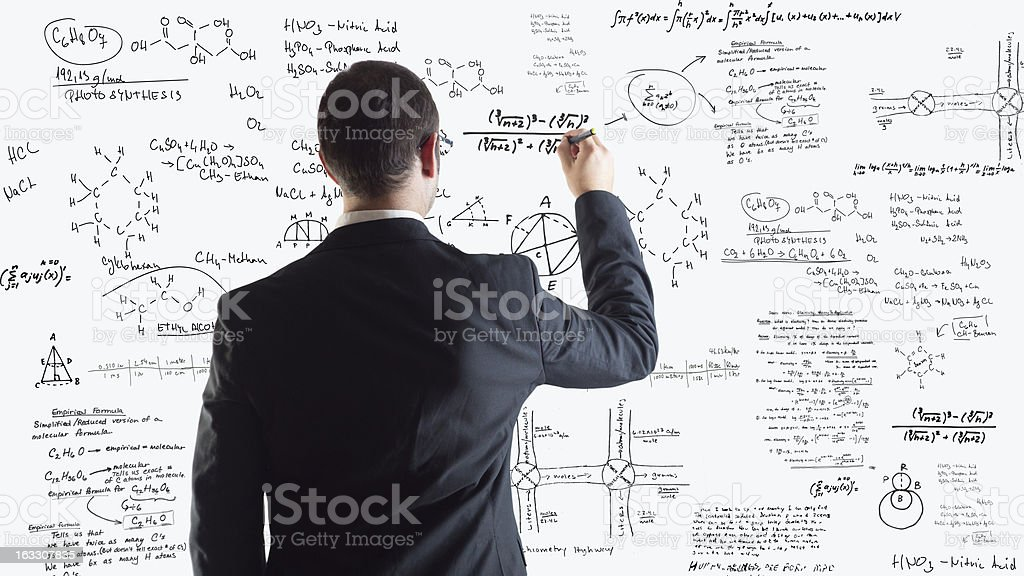 Physics and chemistry stock photo