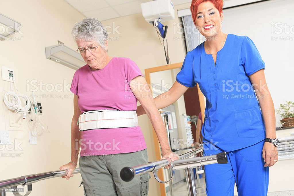 Physiotherapy - Angle Employee stock photo