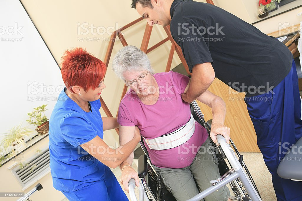 Physiotherapy - Angle Employee Support stock photo