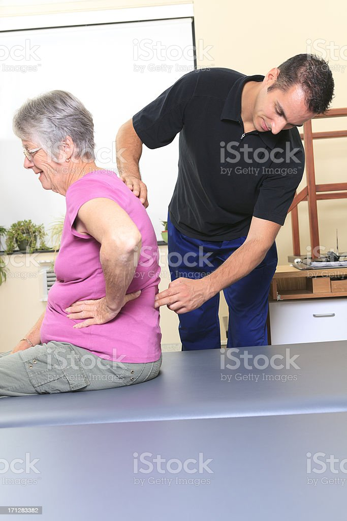 Physiotherapy - Back Pain stock photo