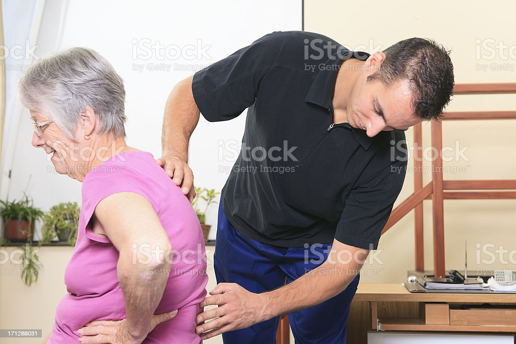 physiotherapy - Check Back stock photo