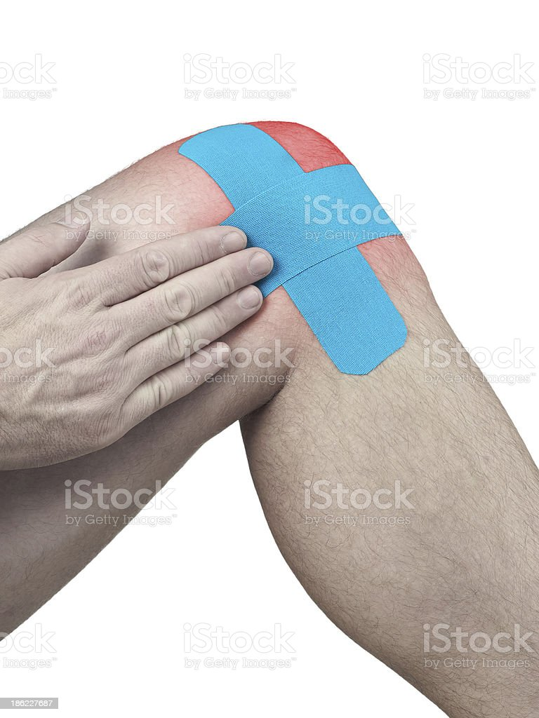 Physiotherapy for knee pain, aches and tension royalty-free stock photo