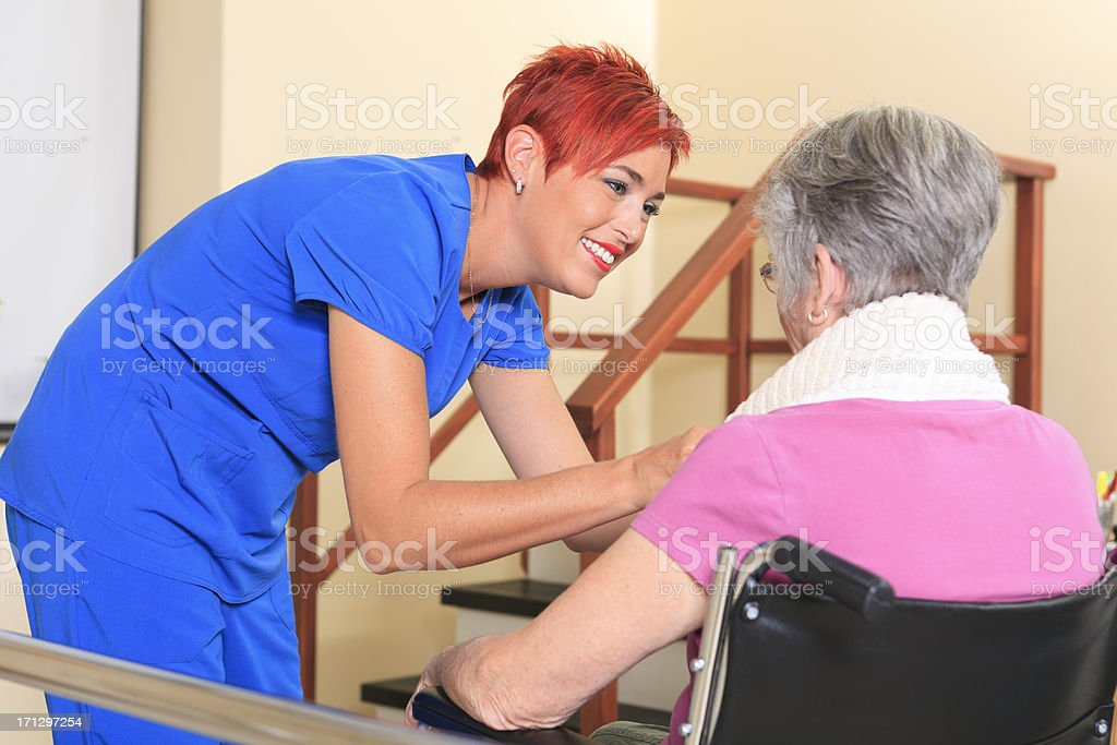 Physiotherapy - Great Effort royalty-free stock photo