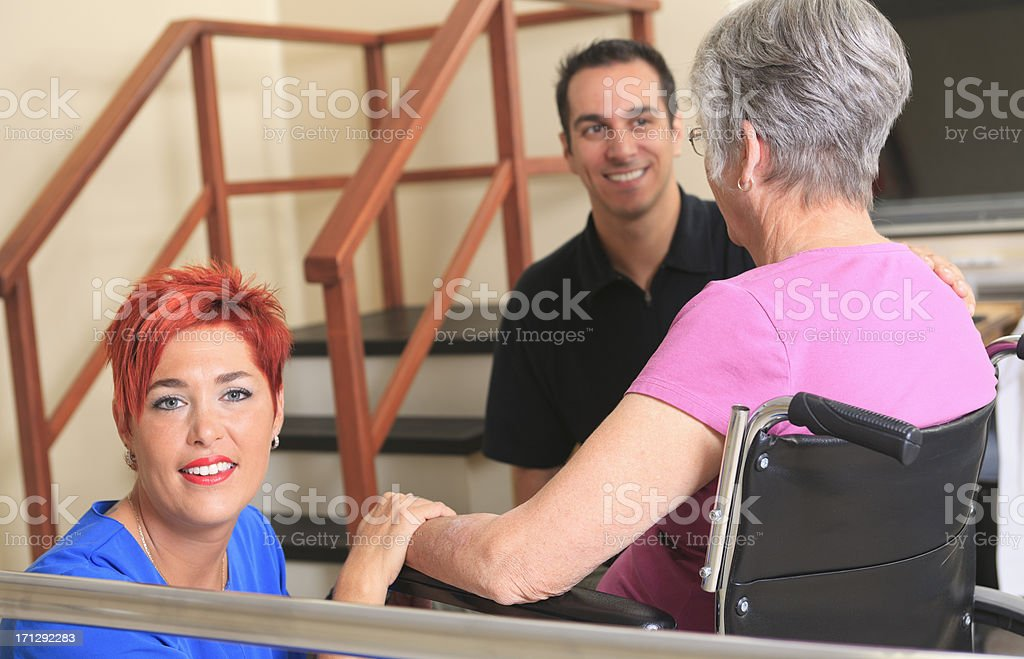 Physiotherapy - Great Employee Close stock photo