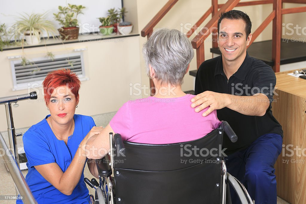 Physiotherapy - Great Employees stock photo
