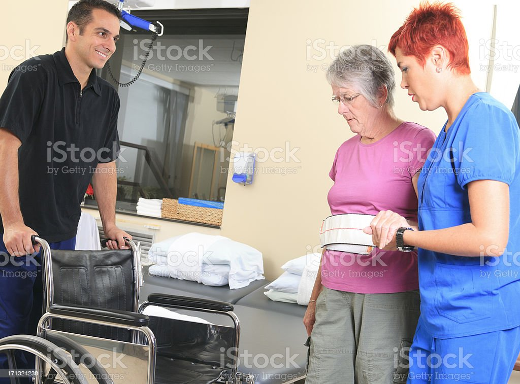 Physiotherapy - Help Senior stock photo