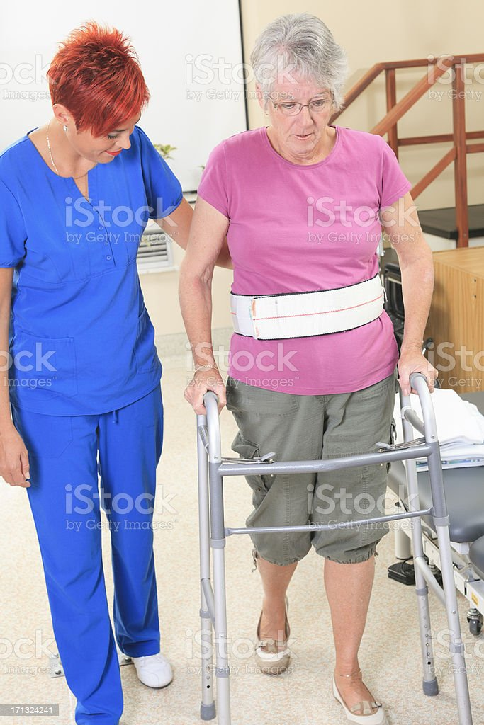 Physiotherapy - Help Senior Vertical stock photo