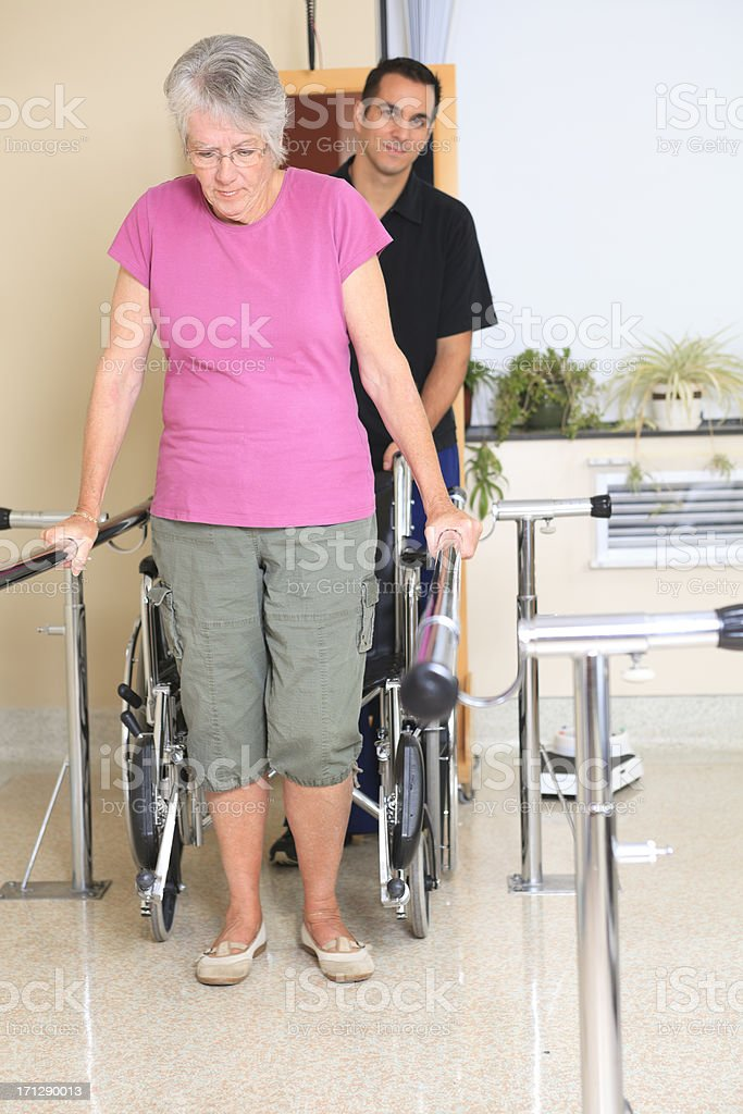 Physiotherapy - Help Walk Chair royalty-free stock photo