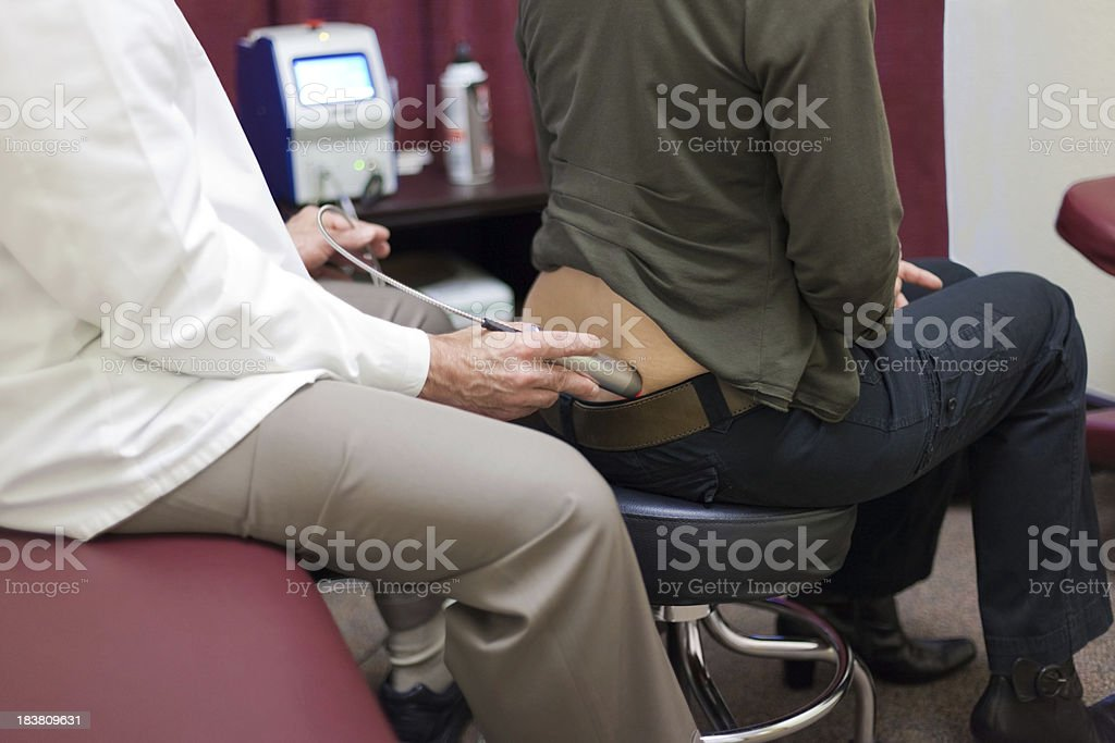 Physiotherapy Laser Treatment royalty-free stock photo