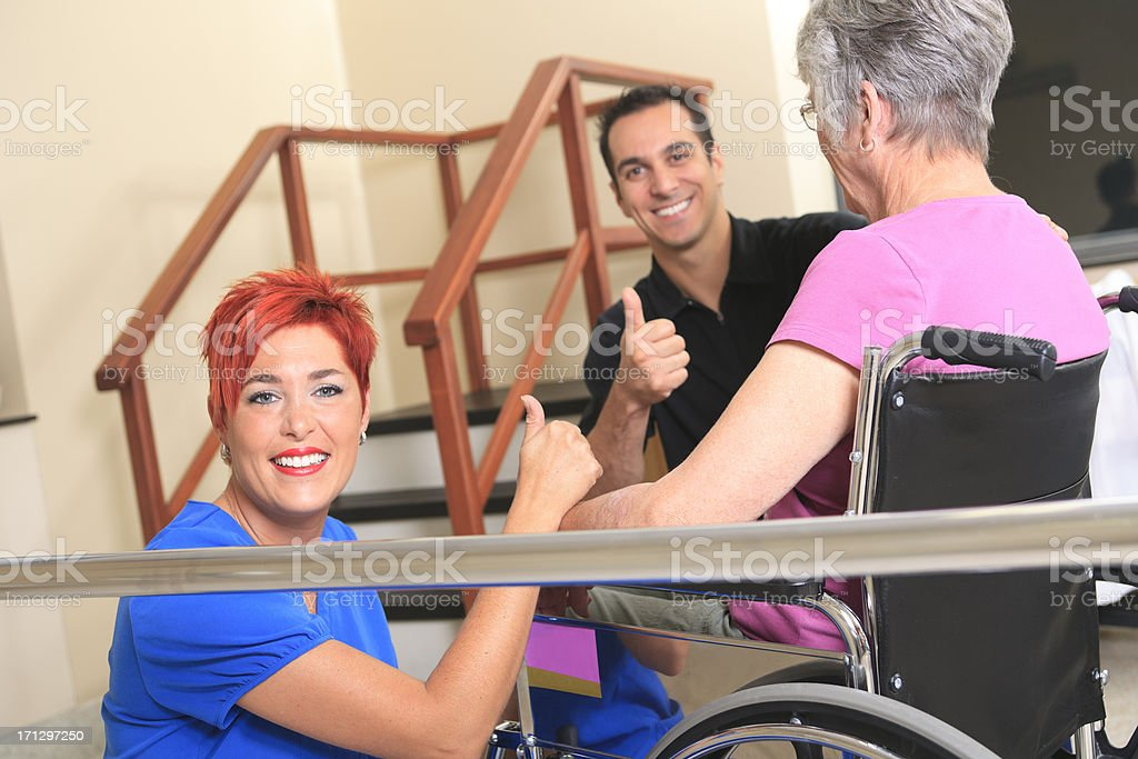 Physiotherapy - Positive stock photo