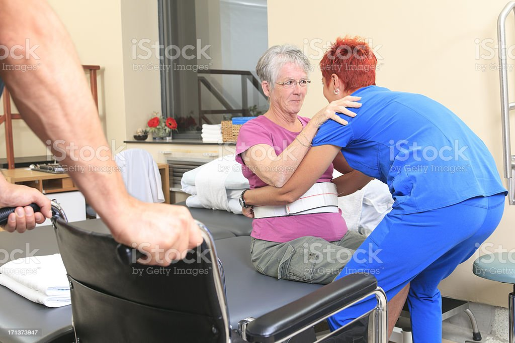 Physiotherapy - Standing Help stock photo