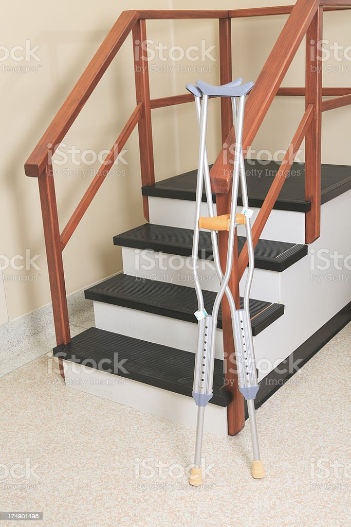 Physiotherapy - Step Crutch stock photo