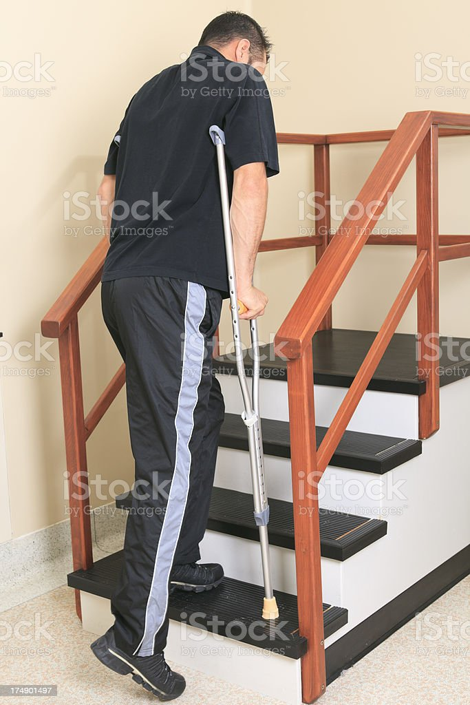 Physiotherapy - Step Man try stock photo