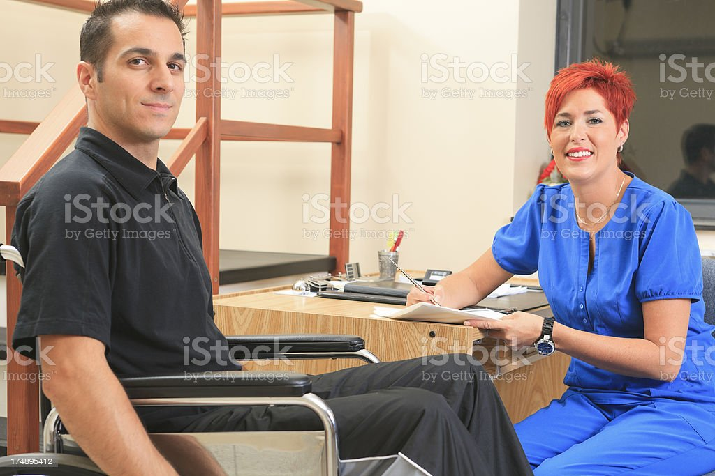 Physiotherapy - Treatment Information stock photo