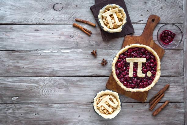Pi-Tag-Kirsche und Apfelkuchen – Foto