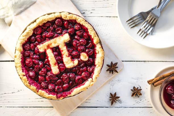 pi day tarte aux cerise - jour photos et images de collection