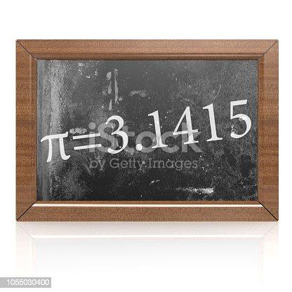 istock Pi equals written on blackboard 1055030400