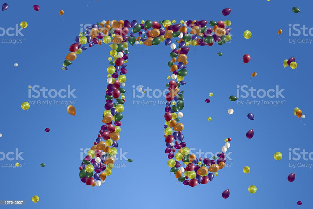 Pi In The Sky royalty-free stock photo