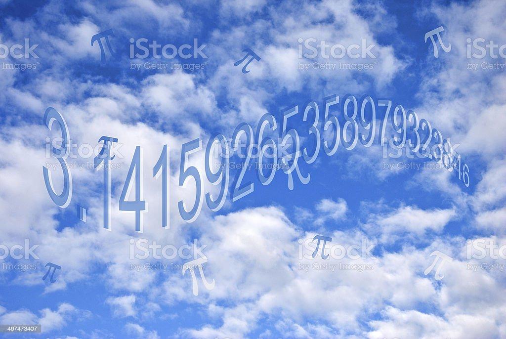 Pi in the sky stock photo