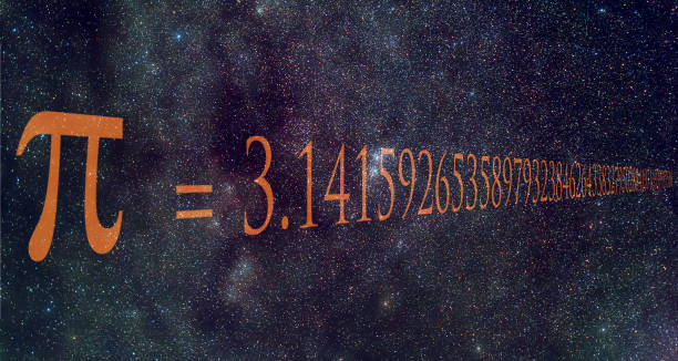 pi number is a mathematical constant whose value is the ratio of any circle's circumference to its diameter. it's value is written over milky way image. - diameter stock pictures, royalty-free photos & images