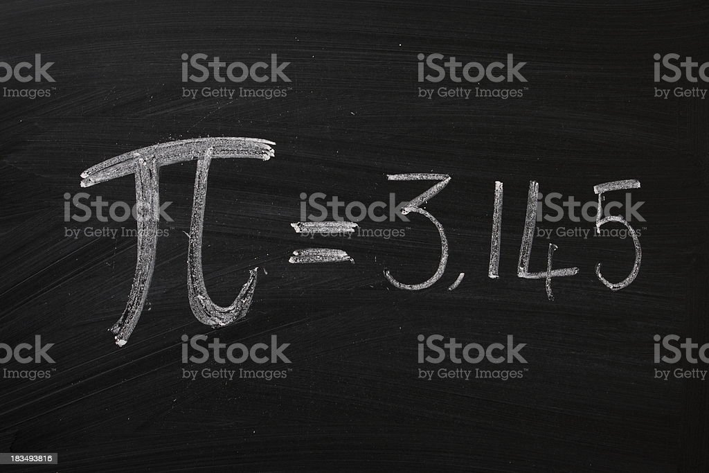Pi on a Blackboard stock photo