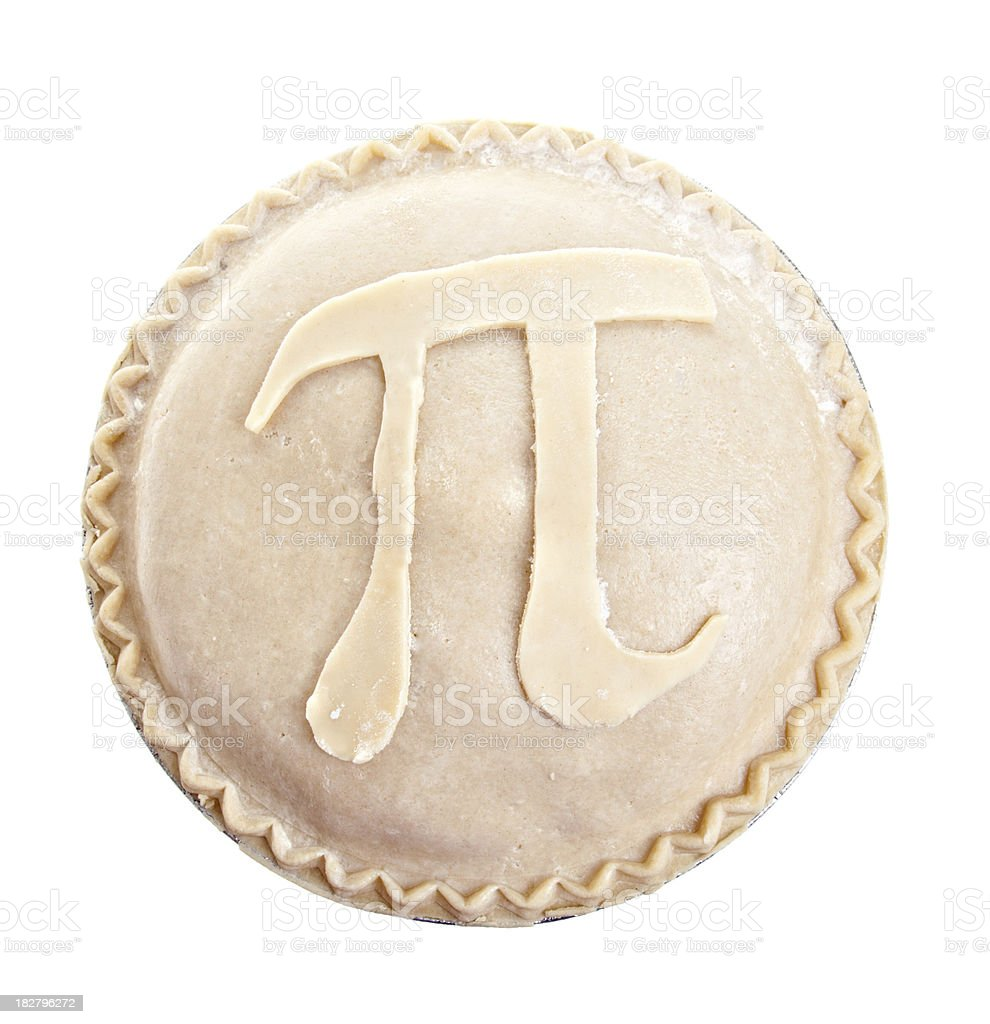 Pi On My Pie royalty-free stock photo
