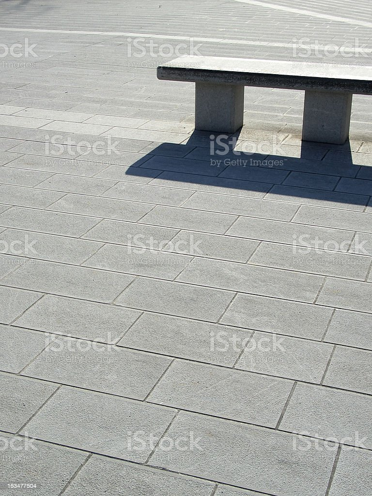 Pi sign shaped bench stock photo