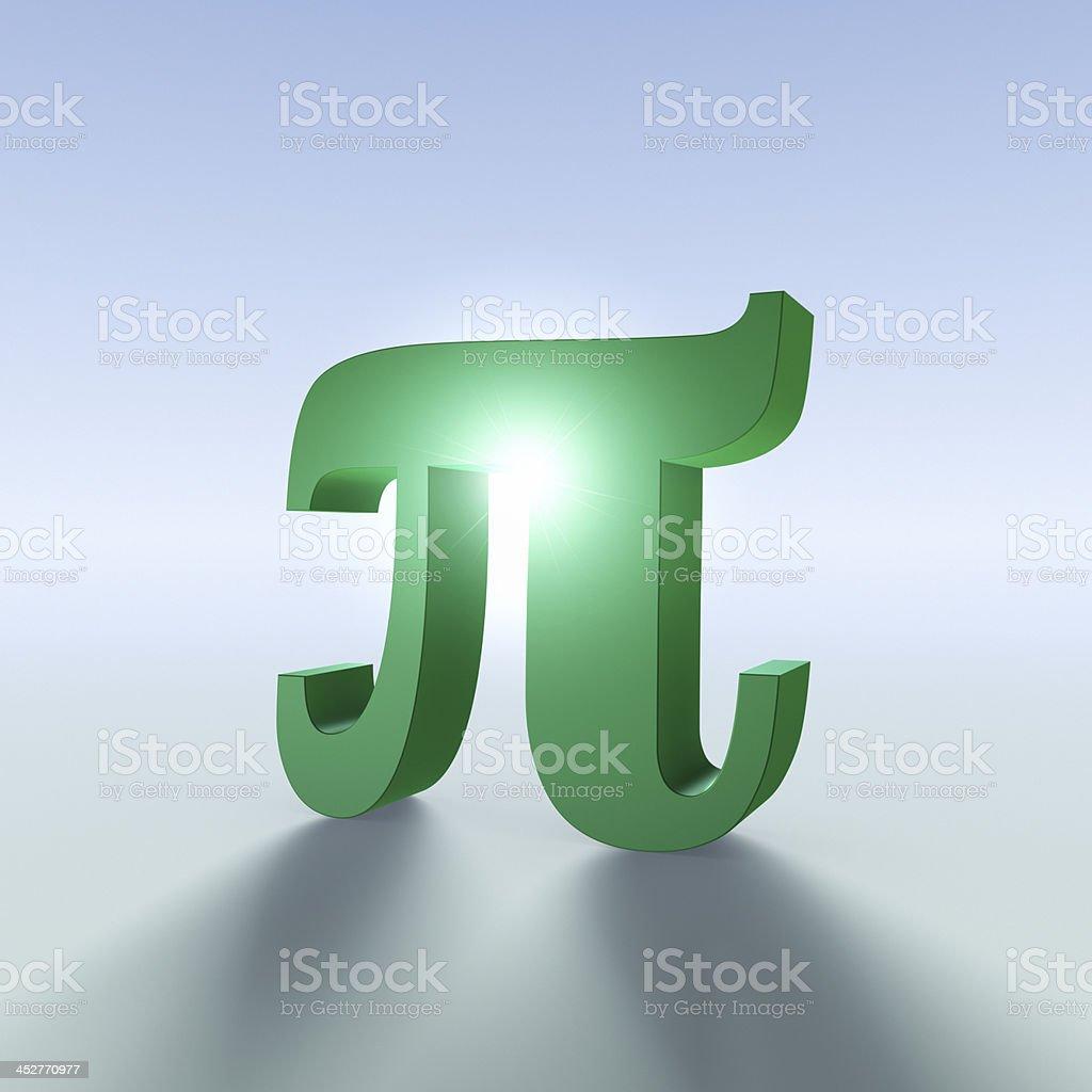 Pi Symbol in the Light XL+ stock photo