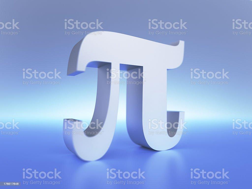 Pi Symbol XL+ stock photo