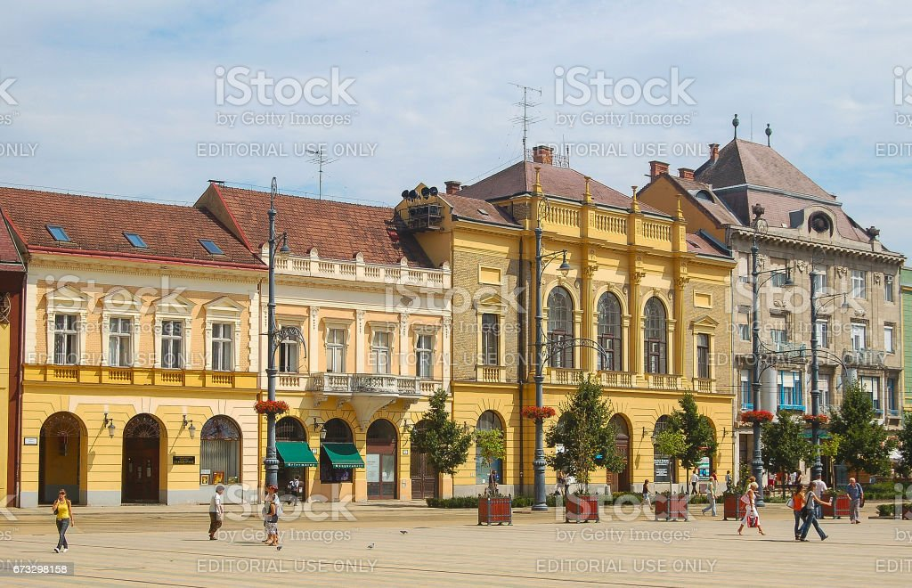 Piac Street - Debrecen, Hungary royalty-free stock photo