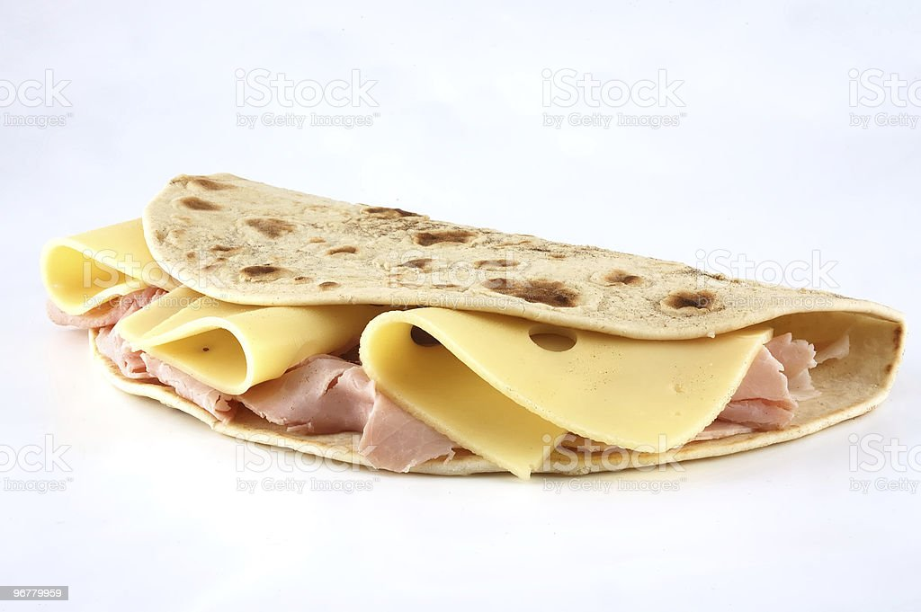 Piadina romagnola, traditional italian sandwich royalty-free stock photo