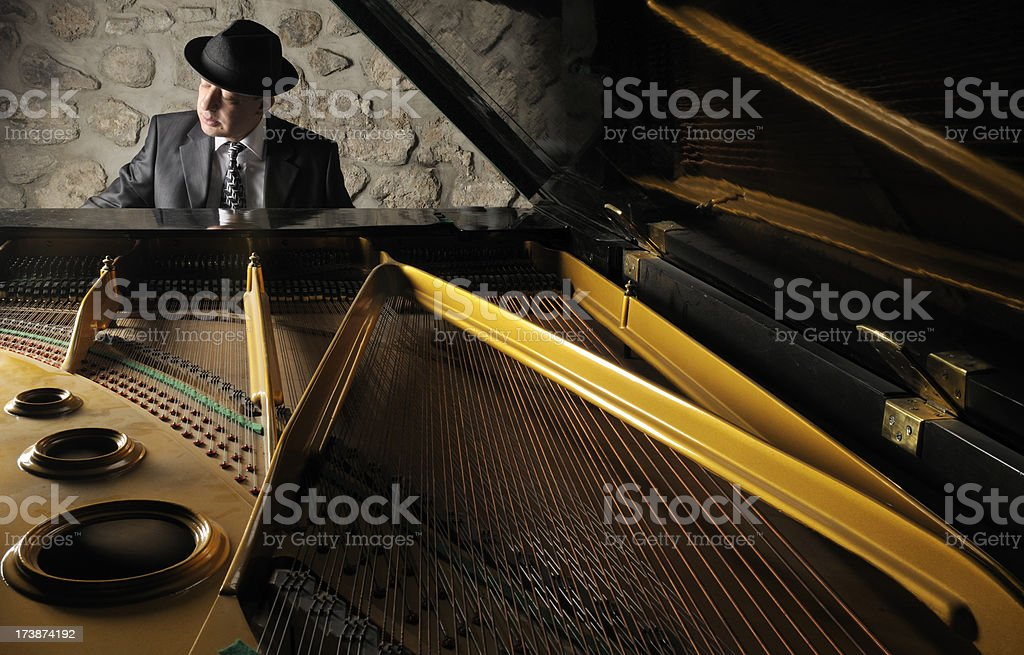 Pianist in Club royalty-free stock photo