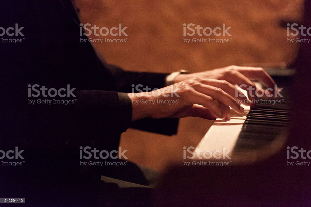 Pianist stock photo