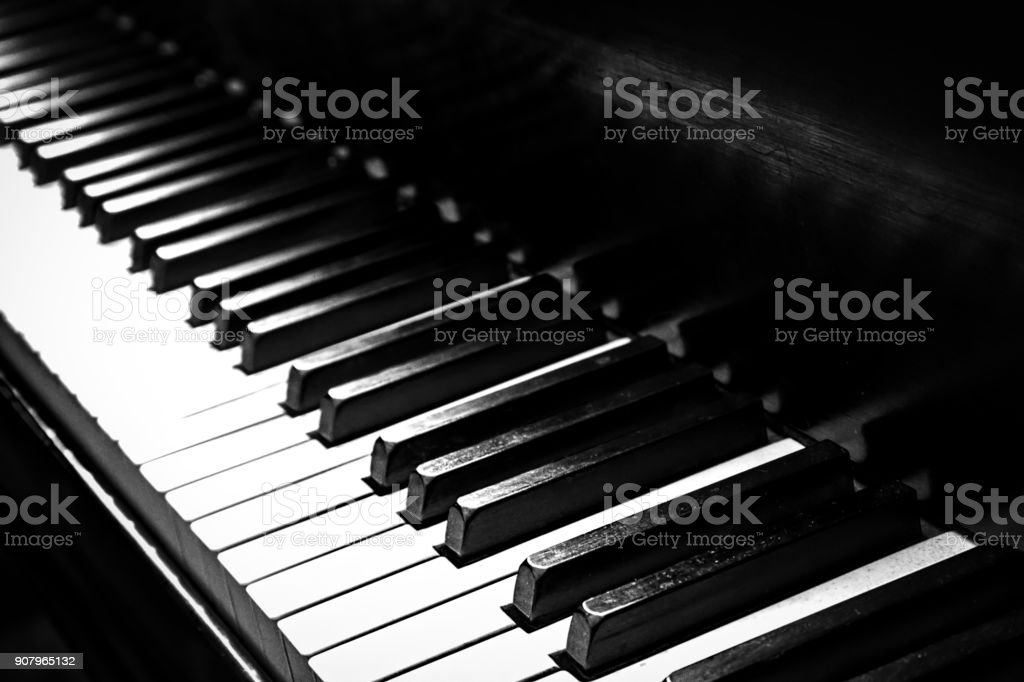 Piano 2 (B&W) stock photo
