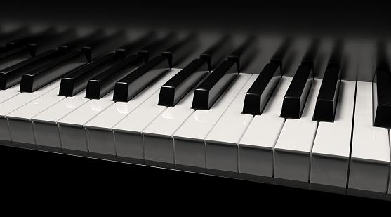 Piano 3d rendering