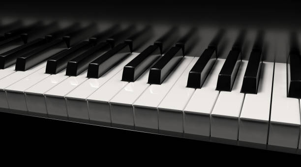 piano 3d rendu - piano photos et images de collection