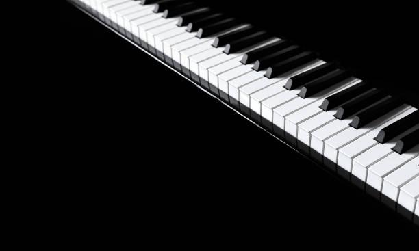 klavier und klavier tastatur - piano noten stock-fotos und bilder