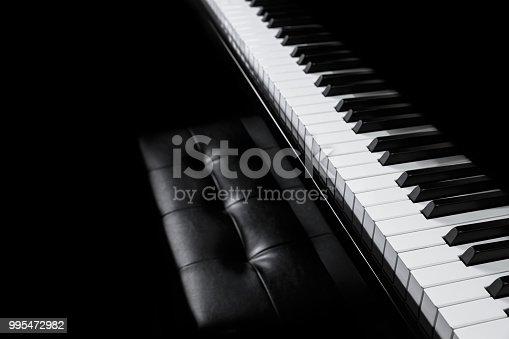 Piano and piano keyboard