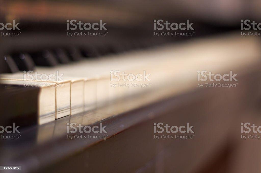 Piano and Piano keyboard selective focus . royalty-free stock photo