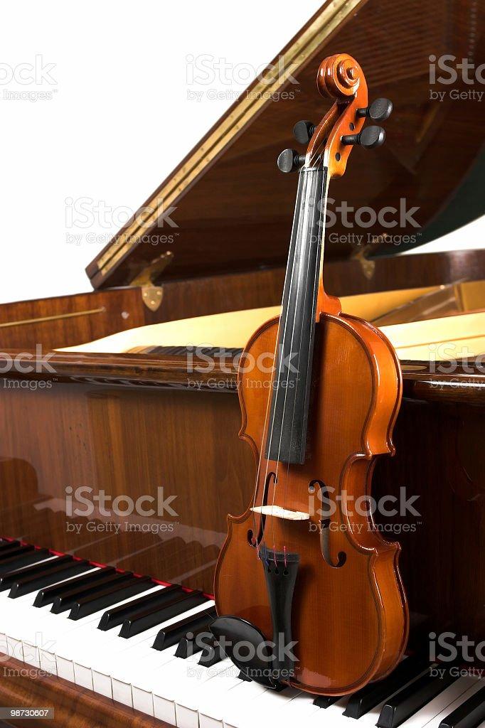 Piano and violin royalty-free stock photo