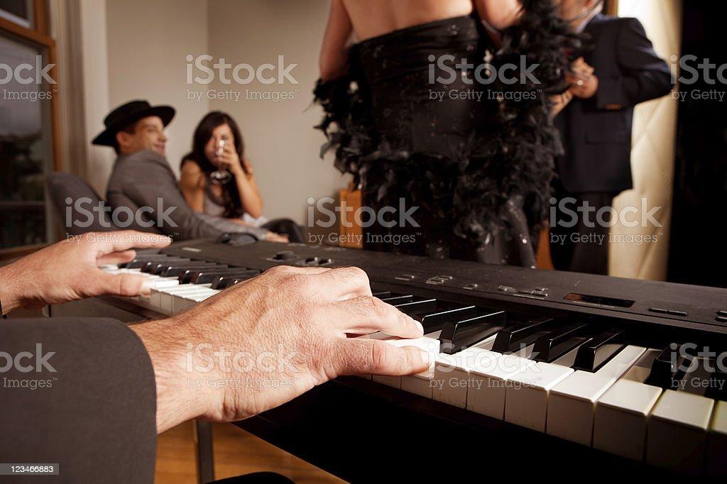 Piano Bar royalty-free stock photo