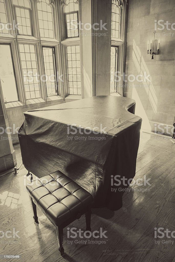 Piano by the Window royalty-free stock photo