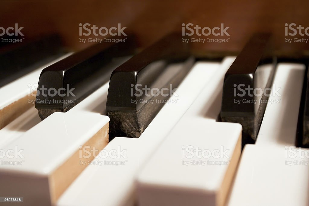 Piano C-Chord Played Anonomously royalty-free stock photo
