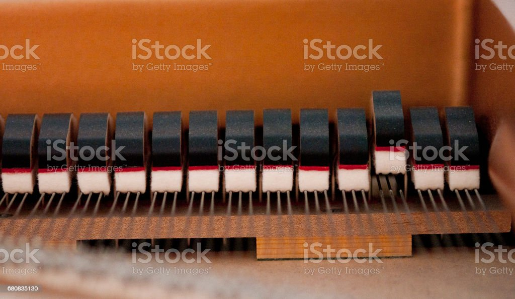 Piano dampers stock photo