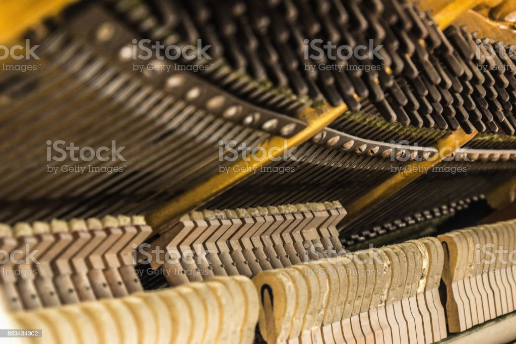 Piano details close up stock photo