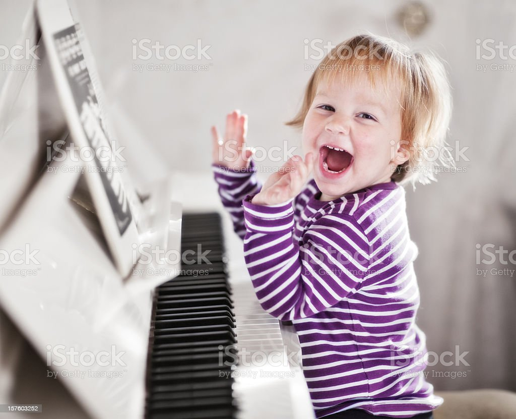 Piano Girl stock photo