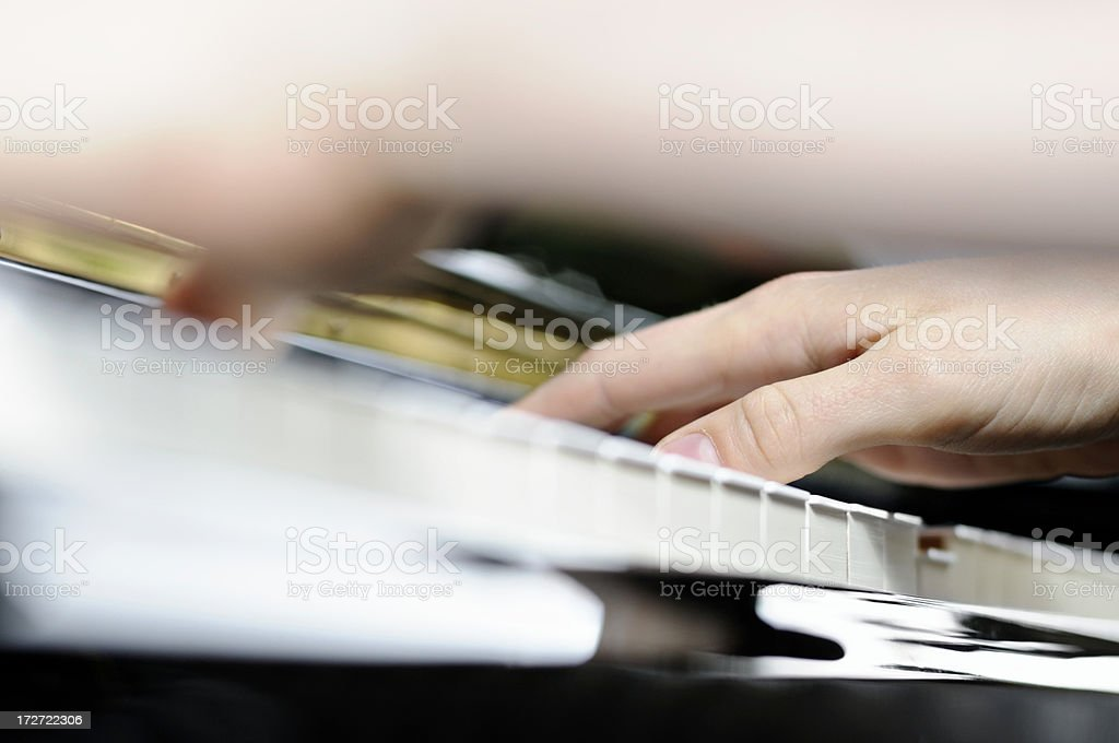 piano girl royalty-free stock photo
